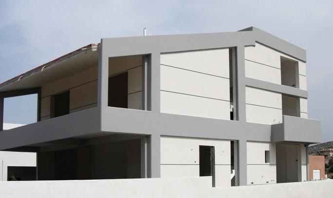Μελέτη δύο διώροφων κατοικιών με πισίνα στο Λαγονήσι Παπανδρόπουλος αρχιτέκτονες
